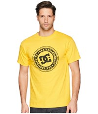 Dc Letterstress Short Sleeve Tee Old Gold Short Sleeve Pullover