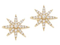 Elizabeth And James Compass Rose Stud Earring Gold Plated Earring