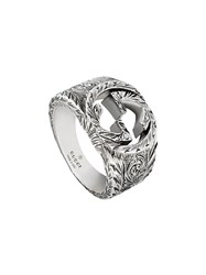 Gucci Interlocking G Ring Silver