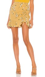 Minkpink Maggie Ruched Mini Skirt In Yellow. Multi