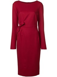 P.A.R.O.S.H. Side Bow Dress Red