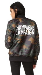 Private Party Champagne Campaign Bomber Jacket Camo