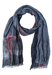 S.Oliver Scarf Grey Black Check Blue