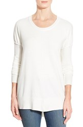 Women's Coin 1804 Dolman Sleeve High Low Tunic Ivory