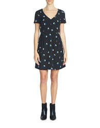 1.State Geo Print Sheath Dress Black