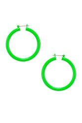 Luv Aj Rainbow Amalfi Hoop Earrings Green