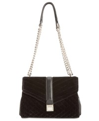 Nine West Arin Velvet Shoulder Bag Black