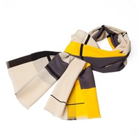 Infinity Scarf Paris Yellow And Grey