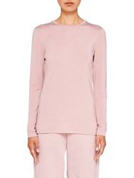 Ted Baker Says Relax Rojo Fitted Long Sleeve Top Dusky Pink