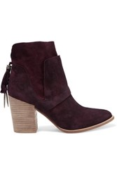 Sigerson Morrison Gianna Suede Ankle Boots Merlot