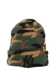 New Era Essential Ny Yankees Camo Beanie Hat Green
