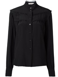 See By Chloe Ruffled Trim Shirt Black
