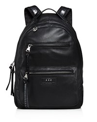 John Varvatos Star Usa Perforated Leather Backpack Black