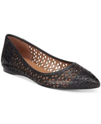 French Sole Fs Ny Quantum Perforated Flats Women's Shoes Black