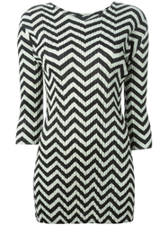 Pleats Please By Issey Miyake Chevron Print Pleated Tunic