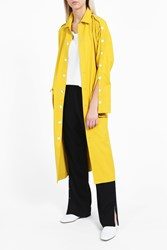 Tibi Women S Button Up Trench Coat Boutique1 Yellow