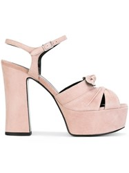 Saint Laurent Candy 80 Bow Sandals Pink Purple