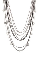 14Th And Union Crystal And Pearl Multi Strand Necklace No Color