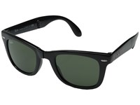 Ray Ban Rb4105 Wayfarer Folding 50Mm Black G 15Xlt Lens Plastic Frame Fashion Sunglasses