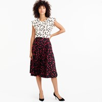 J.Crew Pleated Midi Skirt In Cherry Print