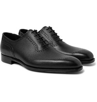 George Cleverley Anthony Pebble Grain Leather Oxford Brogues Black