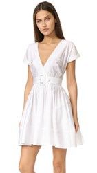 Nicholas N Wrap Front Mini Dress White