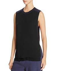 Dkny Thread Detail Sleeveless Combo Blouse Classic Navy