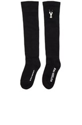 Rick Owens Drkshdw By Mastodon Knee High Socks In Black