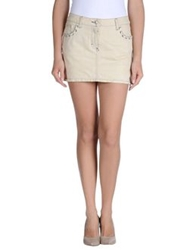 Kaos Denim Skirts Beige