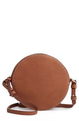 Chelsea 28 Chelsea28 Cassie Faux Leather Circle Crossbody Bag Brown Tan Thrush