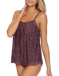 Luxe By Lisa Vogel Aphrodite Sway Tankini Top Wine