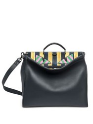 Fendi Peekaboo Leather Satchel Black Multi