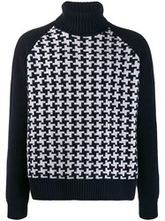 Cruciani Turtle Neck Houndstooth Jumper 60