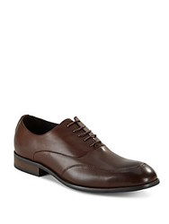 Hart Schaffner Marx Queens Leather Wingtip Oxfords Brown
