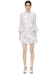 Valentino Butterfly Patch Flared Lace Dress