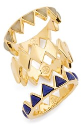Tory Burch Women's 'Puzzle' Stone Rings Aventurine Shiny Gold Set Of 3 Aventurine Shiny Gold