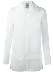 D.Gnak High Neck Shirt White