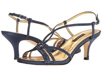 Caparros Pandora Navy Satin Women's Bridal Shoes