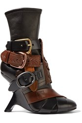 Tom Ford Buckled Stretch Leather Ankle Boots Black