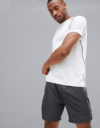 New Look Sport Stretch T Shirt In White