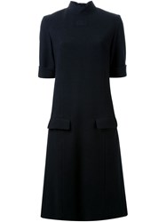 22 4 By Stephanie Hahn Turtle Neck Shift Dress Black