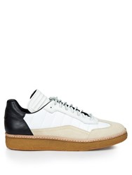 Alexander Wang Eden Leather And Suede Low Top Trainers White Multi