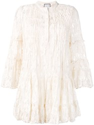 Alexis Beaded Lace Dress Neutrals