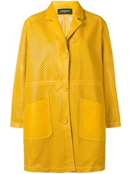 Simonetta Ravizza Classic Leather Coat Yellow
