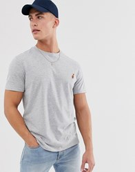 Threadbare Embroidered Lobster T Shirt In Grey