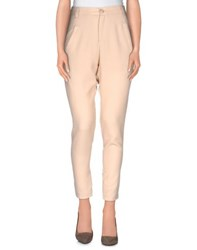 Nellandme Trousers Casual Trousers Women Beige