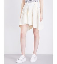 J.W.Anderson Jw Anderson Asymmetric Mid Rise Linen Skirt Off White