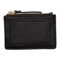 Marc Jacobs Black The Textured Box Top Zip Card Holder