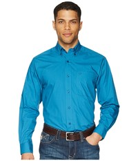 Ariat Solid Poplin Shirt Azure Thistle Clothing Blue