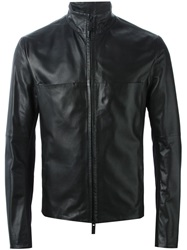 Emporio Armani Fitted Zipped Jacket Black